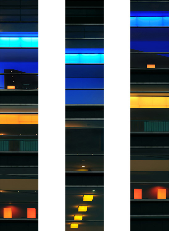 Untitled (T & F V) 2011 each 130 x 22 cm (51 x 9 in.)