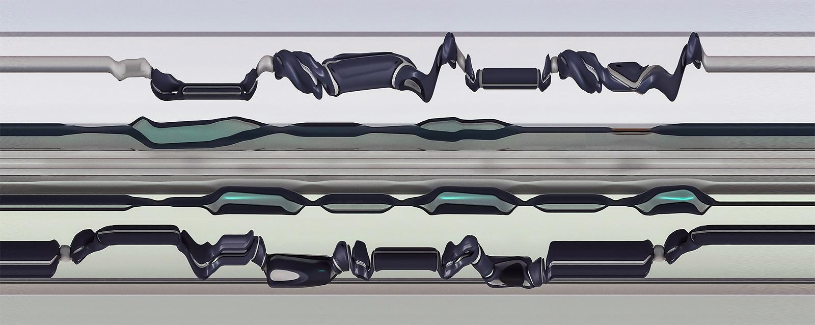 YuMi IRB 14000 01, 2020, 100 x 250 cm (39.3 x 98.4 in.)